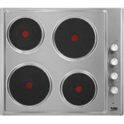 Beko HIZE64101X 580mm 4 Zone Solid Plate Hob