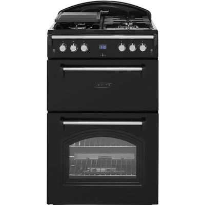 Leisure Gourmet GRB6GVK 60cm Gas Cooker with Full Width Gas Grill - Black