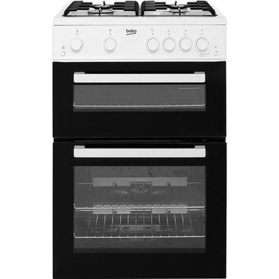 Beko KTG611W 60cm Gas Cooker with Full Width Gas Grill - White