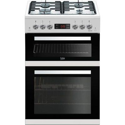 Beko KDG653W 60cm Gas Cooker with Full Width Gas Grill - White