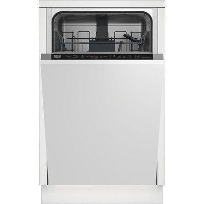 Beko DIS16R10 Fully Integrated Slimline Dishwasher - Silver