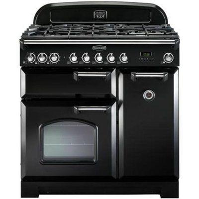 Rangemaster Classic Deluxe 90 Dual Fuel Range Cooker - Black