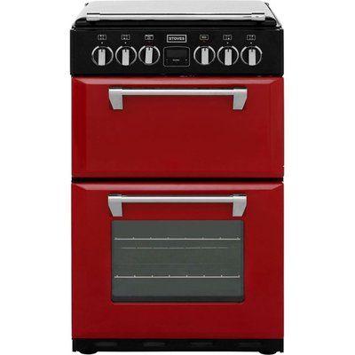 Stoves Mini Range RICHMOND550E 55cm Electric Cooker with Ceramic Hob - Red