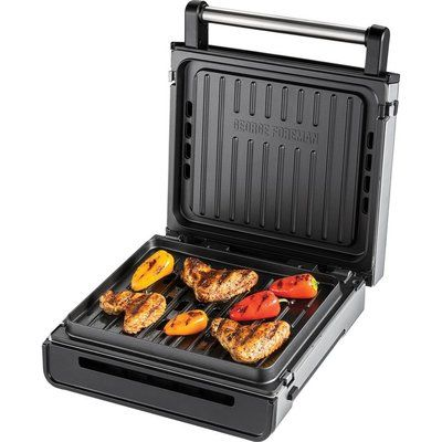 George Foreman 28000 Smokeless Grill - Silver