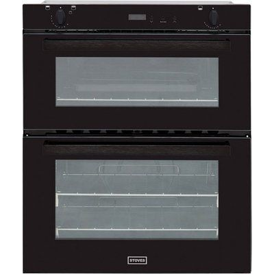 Stoves SGB700PS Built Under Gas Double Oven with Full Width Electric Grill - Black