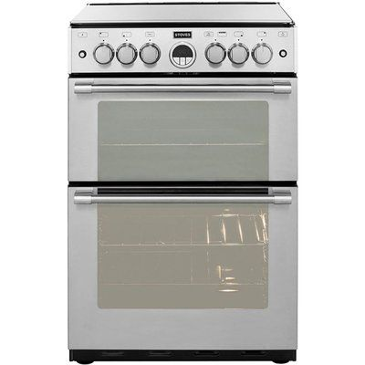 Stoves Sterling STERLING600G 60cm Gas Cooker with Full Width Electric Grill - Stainless Steel