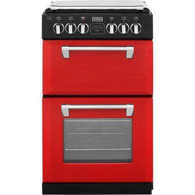 Stoves Mini Range RICHMOND550DFW 55cm Dual Fuel Cooker - Red