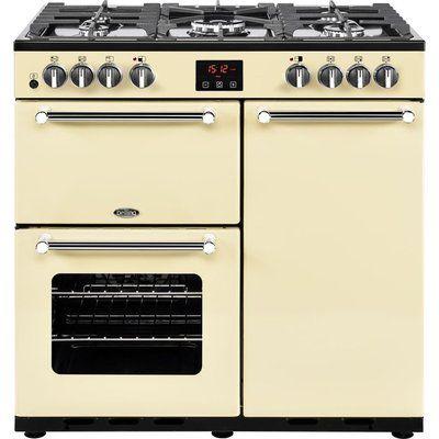 Belling Kensington 90DFT Dual Fuel Range Cooker - Cream & Chrome