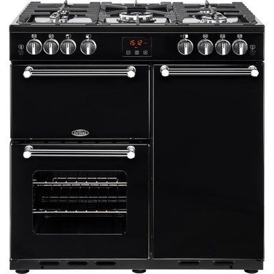 Belling Kensington 90G Gas Range Cooker - Black & Chrome