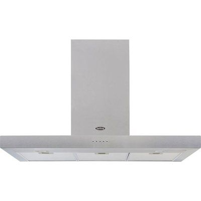 Belling Cookcentre 100 Chim 100cm Flat Chimney Cooker Hood - Stainless Steel