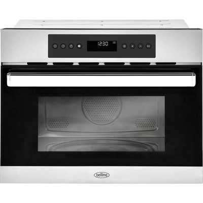 Belling BI45COMW Built-in Compact Combination Microwave - Black & Stainless Steel