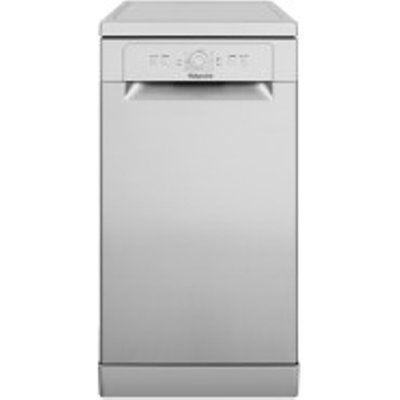 Hotpoint HSFE1B19S 10 Place Setting Slimline Dishwasher