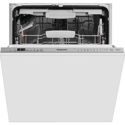 Hotpoint HIO3T241WFEGTUK Fully Integrated Standard Dishwasher - Stainless Steel Effect