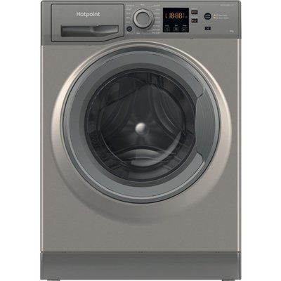 Hotpoint Core NSWR 843C GK UK 8 kg 1400 Spin Washing Machine - Graphite