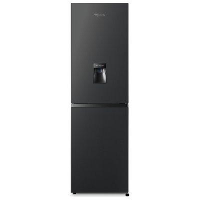 Fridgemaster MC55251MDB 251 Litre Freestanding Fridge Freezer 50/50 Split Water Dispenser 55cm Wide - Black