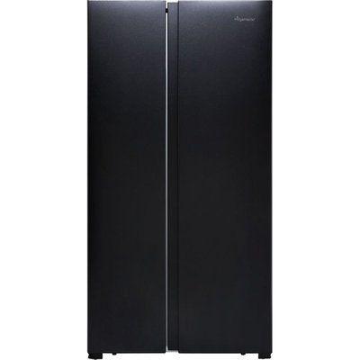 Fridgemaster MS91518FBS American Fridge Freezer - Black