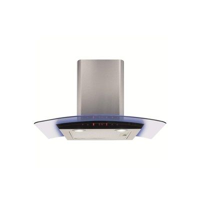 CDA EKP70SS 70cm Curved Glass Chimney Hood with LED - Stainless Steel