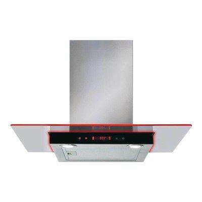 CDA EKN70SS 70cm Flat Glass Cooker Hood With Edge Lighting- Stainless Steel