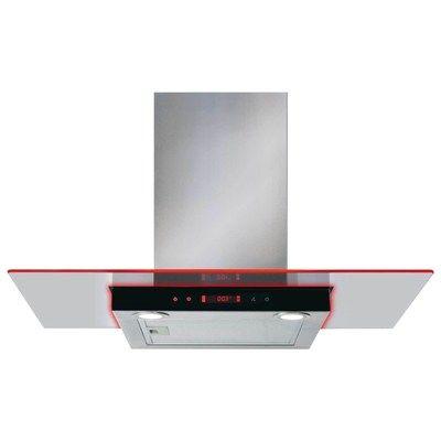 CDA EKN90SS 90cm Flat Glass Cooker Hood With Edge Lighting- Stainless Steel