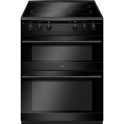 Amica AFC6520BL 60cm Electric Cooker with Ceramic Hob - Black