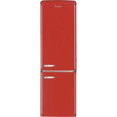 Amica FKR29653R 244 Litre Freestanding Fridge Freezer Retro 70/30 Split A+ Energy Rating 60cm Wide - Red