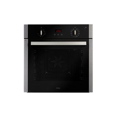 CDA SC360SS Multifunction Pyrolytic Electric Built-in Single Oven - Stainless Steel