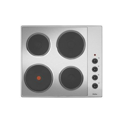 Amica AHE6000SS Matrix 60cm Four Zone Solid Plate Electric Hob - Stainless Steel