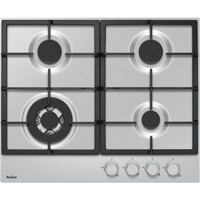 Amica AHG6200SS 59cm Gas Hob - Stainless Steel