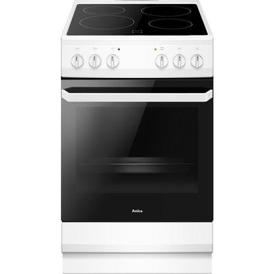 Amica AFC1530WH 50 cm Electric Ceramic Cooker - Stainless Steel