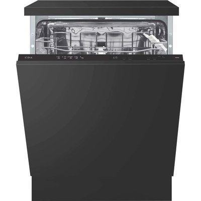CDA CDI6121 Fully Integrated Standard Dishwasher - Black Control Panel