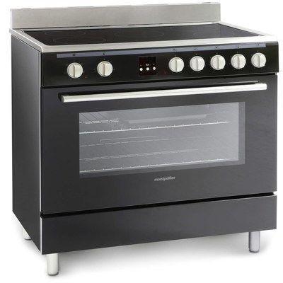 Montpellier MR90CEMK 90cm Electric Single Oven Range Cooker With Ceramic Hob Black