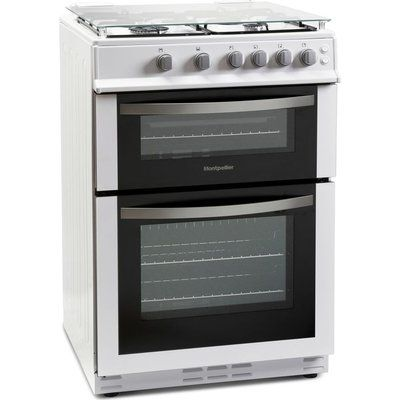 Montpellier MDG600LW 60 cm Gas Cooker - White