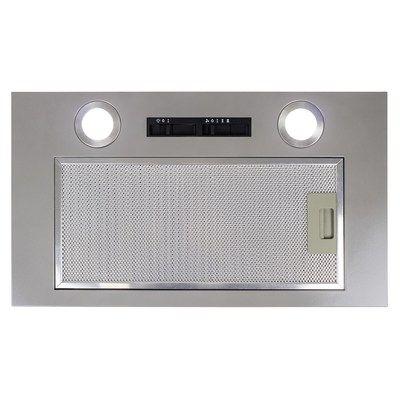 electriQ 52cm Canopy Cooker Hood Built in Kitchen Extractor Fan in Silver