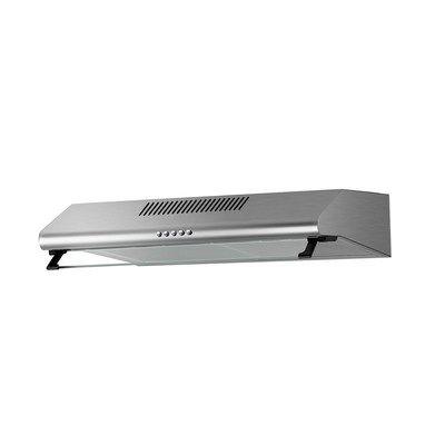 electriQ 60cm stainless steel glass visor hood