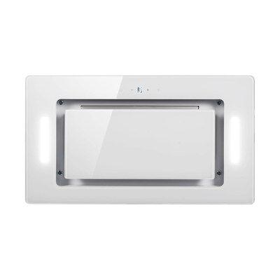 electriQ 52cm White Glass Canopy Cooker Hood - 5 Year Warranty