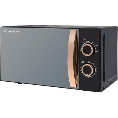 Russell Hobbs RHM1727RG Compact Solo Microwave - Black & Rose Gold