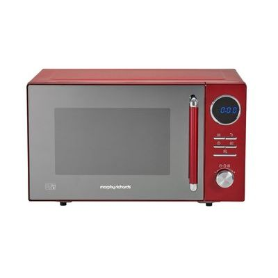 Morphy Richards 900W Standard Microwave - Red