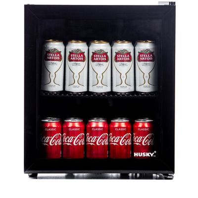 Husky HY192 Mini Fridge/Drinks Chiller - Black