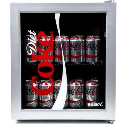 Husky HY209 Diet Coke Mini Fridge/Drinks Cooler - Silver