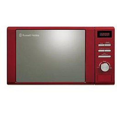 Russell Hobbs RHM2064R Heritage 20L Digital Microwave Oven - Red