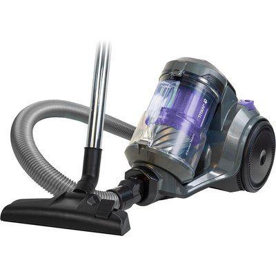 Russell Hobbs Titan RHCV4601 Cylinder Bagless Vacuum Cleaner - Spectrum Grey & Purple