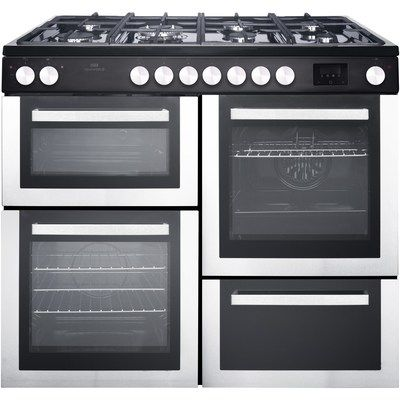 New World NW100RCIX 100cm Dual Fuel Range Cooker - Stainless Steel