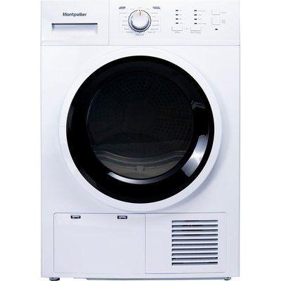 Montpellier MCD8W 8 kg Condenser Tumble Dryer - White