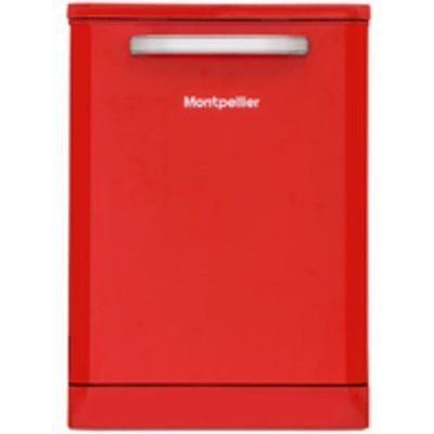 Montpellier MAB6015R Full-size Dishwasher - Red