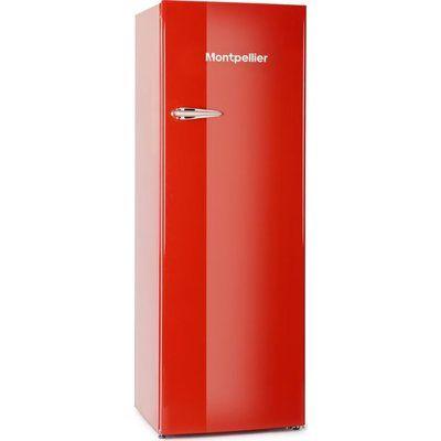 Montpellier MAB341C Tall Fridge - Red