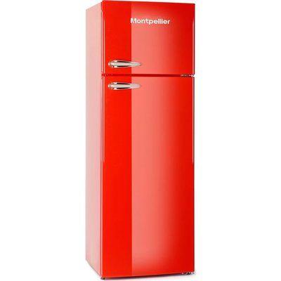 Montpellier Retro MAB346R 80/20 Fridge Freezer - Red