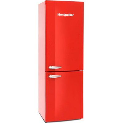 Montpellier Retro MAB386R 60/40 Fridge Freezer - Red
