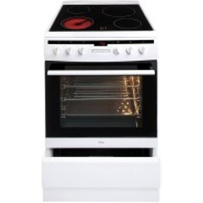 Amica 608CE2TAW 60cm Electric Cooker with Ceramic Hob