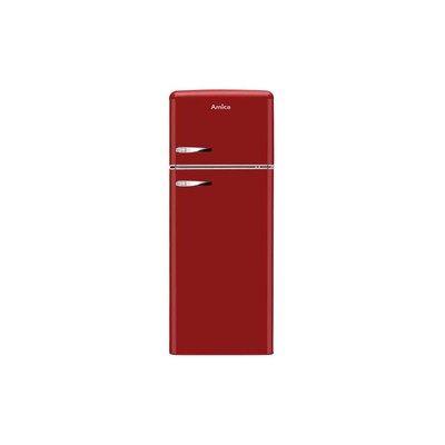 Amica FDR2213R 208 Litre Freestanding Fridge Freezer Retro Top Mount 80/20 Split A+ Energy Rating 55cm Wide - Red