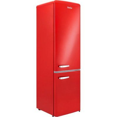 Amica FKR29653R 60/40 Fridge Freezer - Red